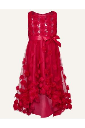 Monsoon Girls Dresses - Sequin 3D Flower Dress , Embellished, in Size: 6 Years