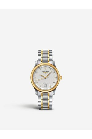 Longines Men Watches - L26285777 Master 18ct yellow gold and stainless steel watch