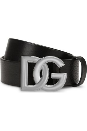 Dolce & Gabbana Men Belts - Leather Logo Belt