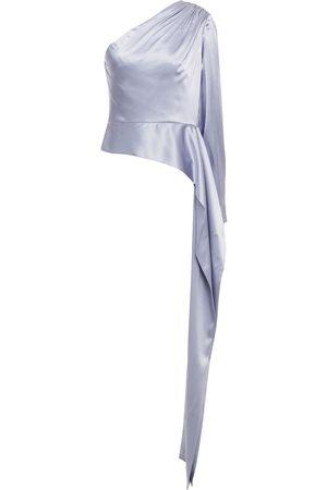 Halston Heritage Women Tops - Woman One Shoulder Top Lavender Size 10