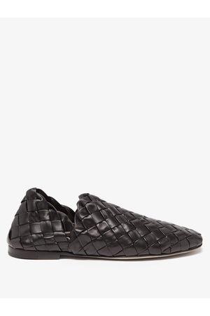 Bottega Veneta Lagoon Intrecciato-leather Flats - Mens