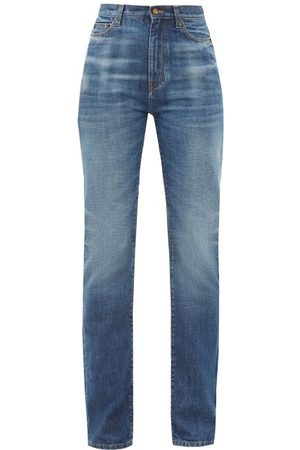 Saint Laurent High-rise Wide-leg Jeans - Womens - Denim