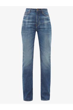 Saint Laurent Women Wide Leg Trousers - High-rise Wide-leg Jeans - Womens - Denim