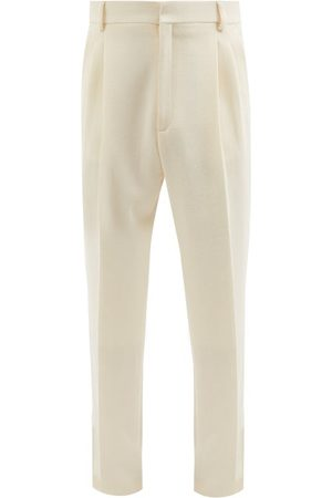 Casablanca High-rise Pleated Wool Trousers - Mens