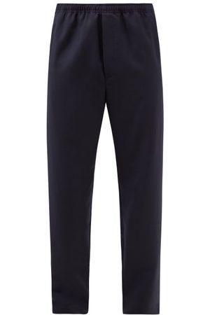 Acne Studios Peacemo Wool-blend Trousers - Mens - Navy