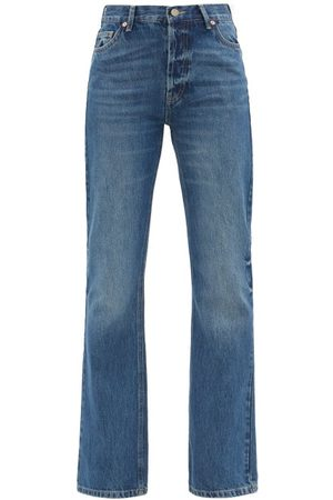 Raey Angel Organic And Recycled-cotton Bootcut Jeans - Womens - Dark