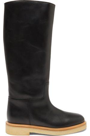 LEGRES Women High Leg Boots - 30 Leather Knee-high Boots - Womens