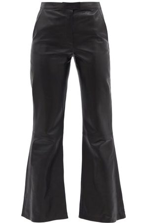 DODO BAR OR Lin Flared Leather Trousers - Womens