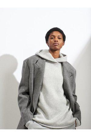 Raey Women Sweatshirts - Oversized Knitted Cashmere Hooded Sweatshirt - Womens