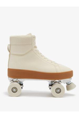 Bottega Veneta Men Trainers - Quilt Leather Trainer Roller Skates - Mens - Cream