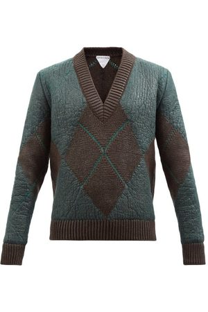Bottega Veneta Men Jumpers - Argyle Wool-blend Sweater - Mens - Multi