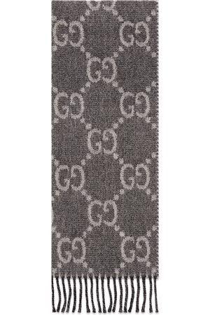 Gucci Men Scarves - GG jacquard pattern knit scarf with tassels