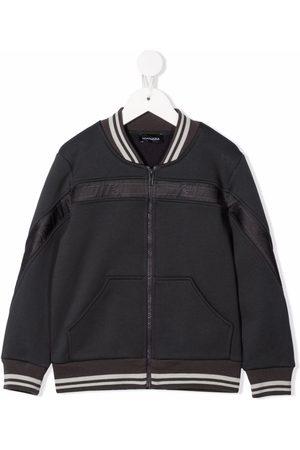 MONNALISA Boys Bomber Jackets - Logo-stripe bomber jacket
