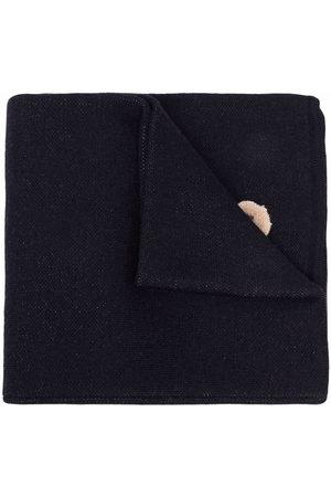 Palm Angels Bear logo-intarsia scarf