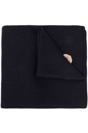 Palm Angels PALM ANGELS BEAR SCARF NAVY BROWN