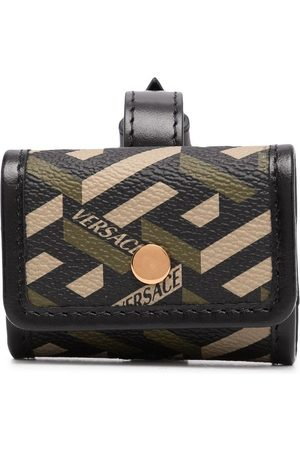 VERSACE Men Purses & Wallets - Greca-print buckle-fastening wallet