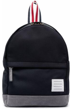 Thom Browne Boys Rucksacks - Small stripe-print backpack - 415 Navy