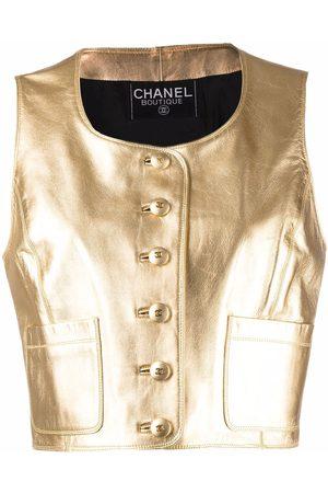 CHANEL 1994 metallic leather waistcoat