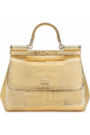 Dolce & Gabbana Medium Sicily crocodile-effect tote bag
