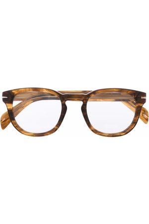 DB EYEWEAR BY DAVID BECKHAM Men Sunglasses - Tortoiseshell-effect round glasses