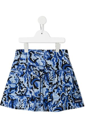Kenzo Camouflage-print pleated mini skirt
