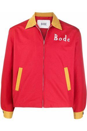 BODE Monday dog-print shirt jacket
