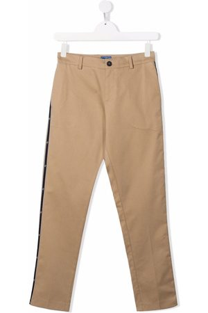 FAY KIDS TEEN four-pocket stretch-cotton trousers - Neutrals