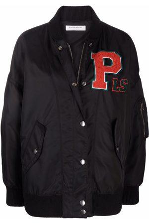 Serafini Women Bomber Jackets - Logo-patch bomber jacket