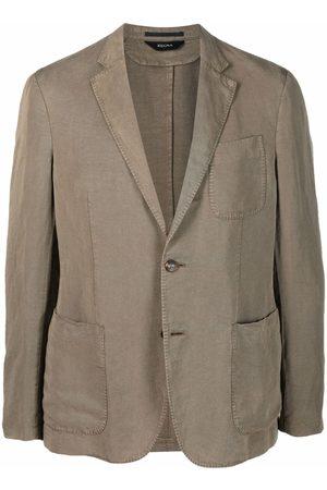 Z Zegna Single-breasted buttoned blazer