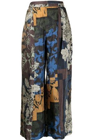 BIYAN Floral-print wide-leg trousers