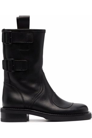 Buttero Women Ankle Boots - Side-buckle ankle-length boots