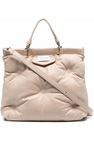 Maison Margiela Quilted leather tote - Neutrals