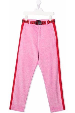DKNY Colour-block corduroy slim-fit trousers