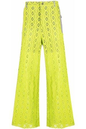 A BETTER MISTAKE Wide-leg lace trousers - 30