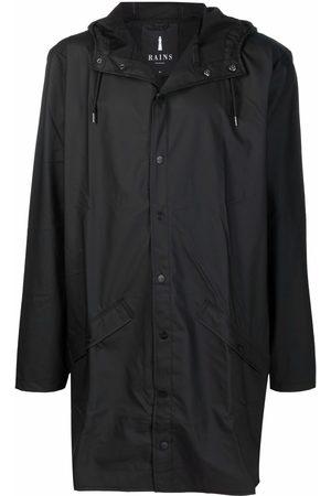 Rains Press-stud hooded raincoat