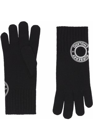 Burberry Logo-patch knitted gloves