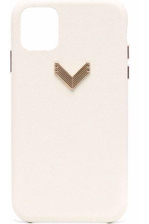 Manokhi Logo-plaque iPhone 11 case - Neutrals