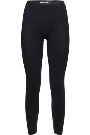 Dsquared2 Women Trousers - Logo Stretch Leggings