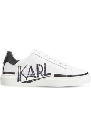 Karl Lagerfeld Boys Trainers - Logo Leather Lace-up Sneakers