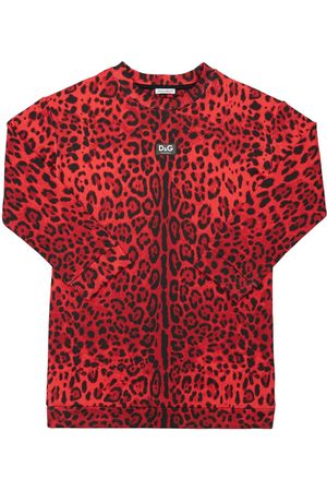 Dolce & Gabbana Girls Printed Dresses - Leopard Print Cotton Dress