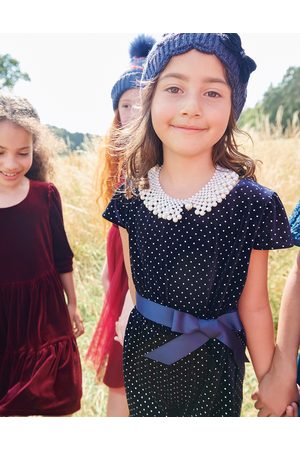 Monsoon Girls Jumpsuits - Girls Nora Studded Velvet Playsuit, Size: 5-6 Years