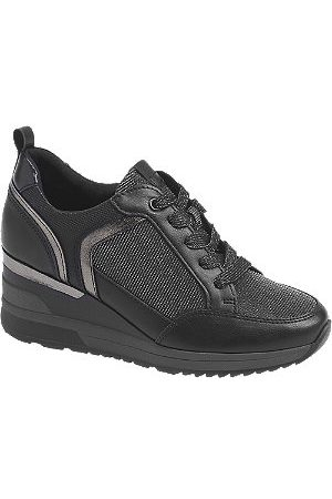 Venice Women Trainers - Ladies Wedge Lace-up Trainers