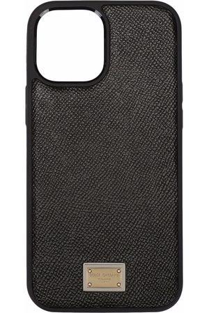 Dolce & Gabbana Logo plate calfskin iPhone 12 Pro case
