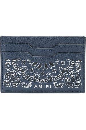 AMIRI Men Purses & Wallets - Bandana-print cardholder