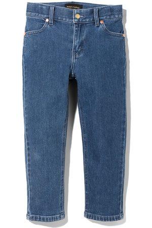 Mini Rodini Logo-embroidered tapered jeans