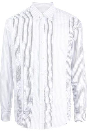 Salvatore Ferragamo Men Long sleeves - Vertical-stripe long-sleeve shirt