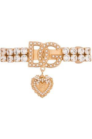 Dolce & Gabbana Women Hair Accessories - Logo-plaque jewelled hair clip