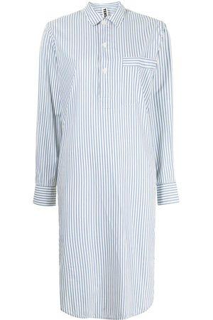 Tekla Striped poplin nightshirt dress