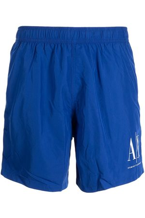 Armani Men Swim Shorts - Logo-print swim shorts