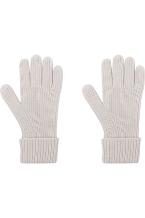 N.PEAL Ribbed-knit organic-cashmere gloves